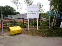 Panel and post signage for Askham Bryan College