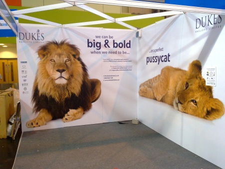 Printed panel exhibition system for Dukes Bailiffs