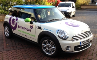Bettermove Mini Cooper branding by Ad Bell