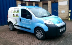 Envirovent van with full wrap graphics