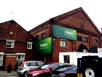 Flexface signs for Europcar, with matching powdercoated frames