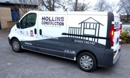Hollins Construction van graphics by Ad Bell