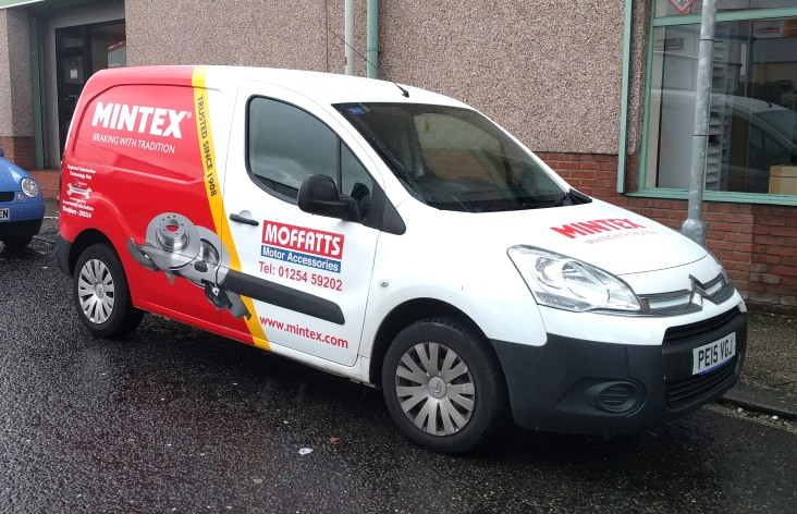 Moffatts Mintex themed van graphics