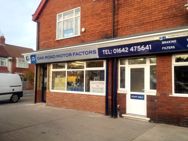 Oak Road Motor Factors signs by Ad Bell