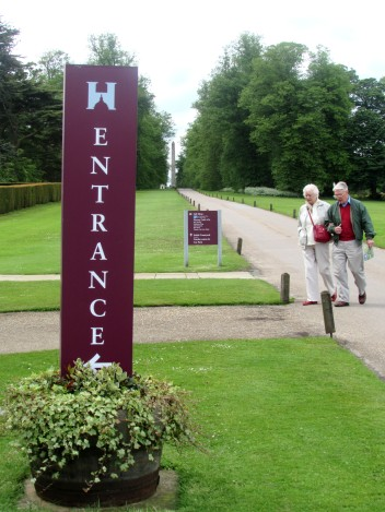 Castle Howard totem sign with vinyl graphics