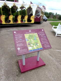 """""""You Are Here"""" style lectern with vinyl print"""