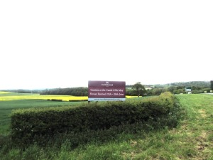 Roadside panel and post sign for Castle Howard by Ad Bell
