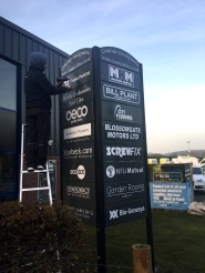Powdercoated panel and post directory sign system