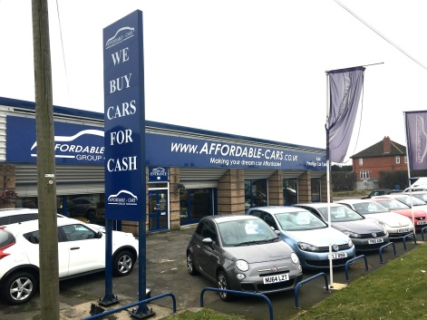 Large fascia panel sign and rectangular aluminium totem sign