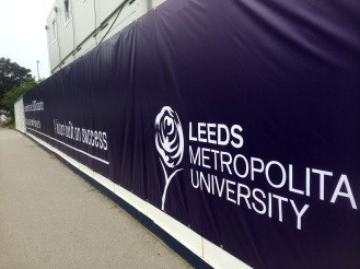 Huge PVC vinyl printed banner for Leeds Beckett by Ad Bell