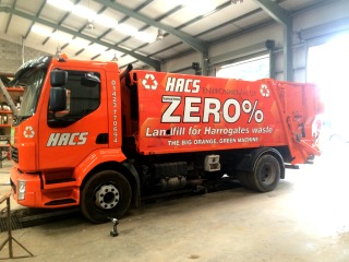 HACS waste truck graphics
