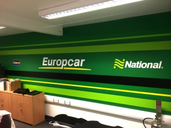 Internal vinyl; wall graphics for Europcar by Ad Bell