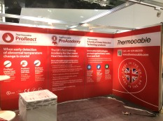 Aluminium framed exhibition stand with printed graphics
