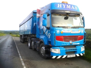 Hymas truck graphics - cab and trailer
