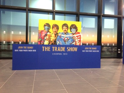 Beatles photo stand at Liverpool trade Show 2015