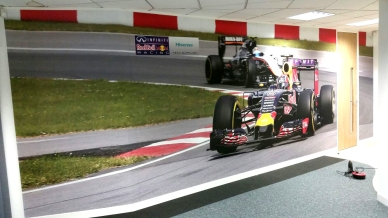 Red Bull racing wall graphic for HiSense by Ad bell