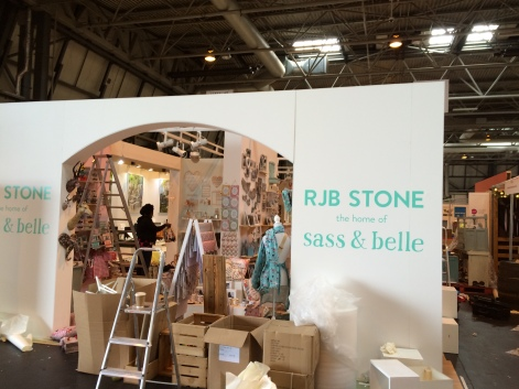 RJB Stone exhibitions stand - the home of Sass & Belle