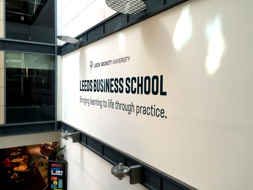 Vinyl wall graphics for Leeds Business School