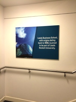 Stretched printed fabric mounted in a slim aluminium frame