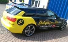 Part wrap graphics to Prologue Racing team car