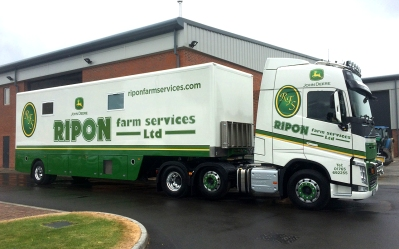 Ripon Farm Services truck unit and trailer graphics