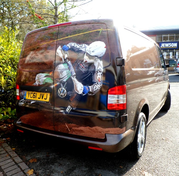 VW Transporter printed motorcross graphics