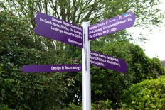Finger post directional sign
