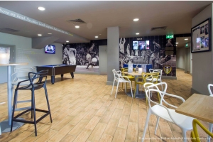 Leeds United offices recreational area wall graphics