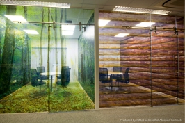Individually themed office meeting rooms