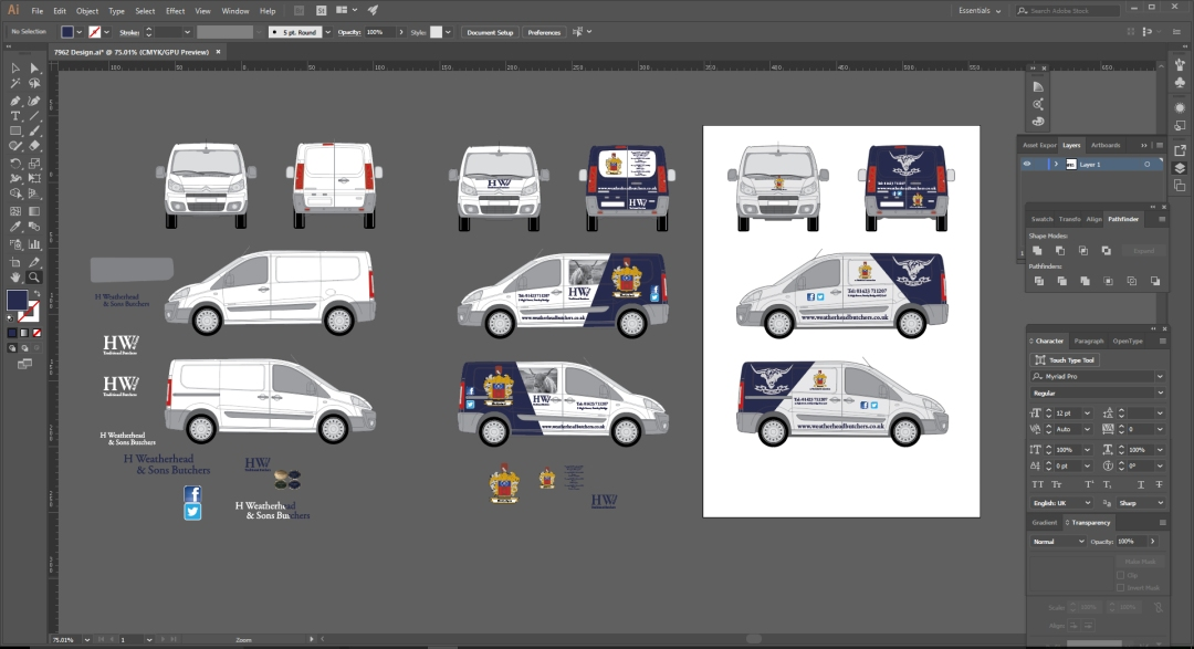 Illustrator Vehicle Design