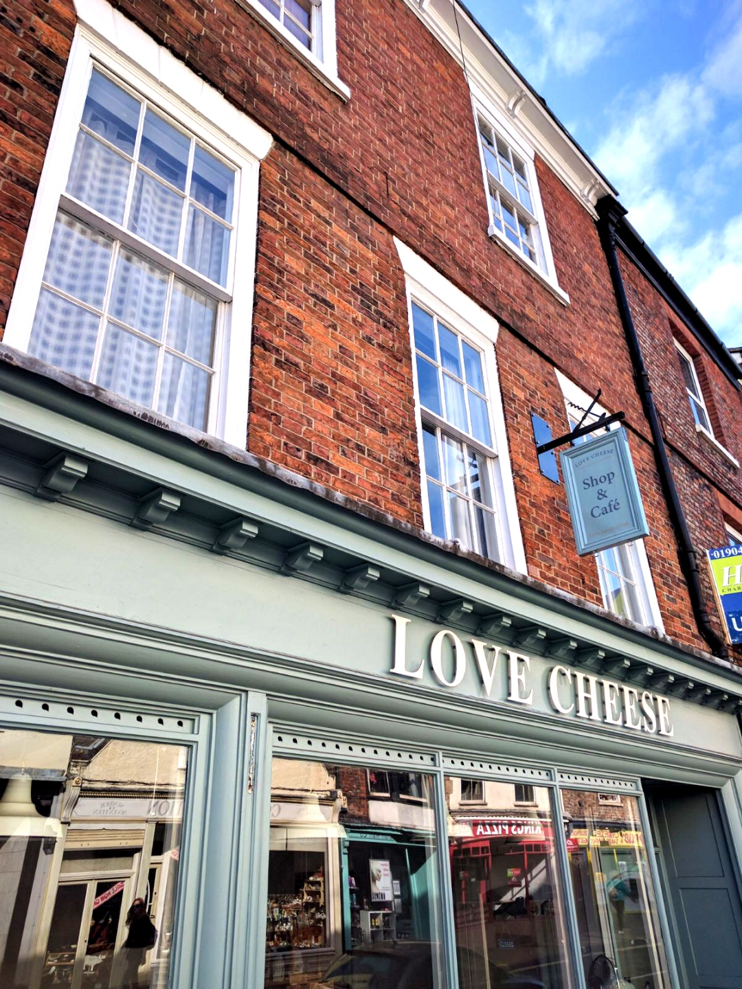 Finished Building Sign at Love Cheese in York