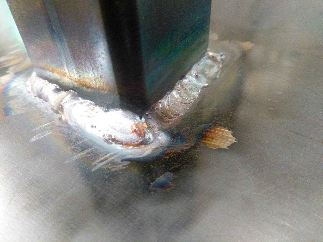 TIG Welding the Main Bar to the Backplate